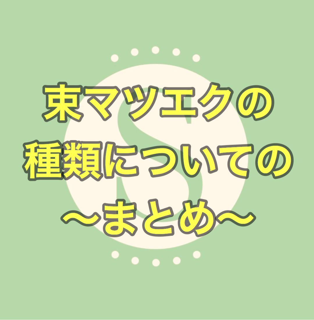 束マツエクの種類について詳しく書きます♪